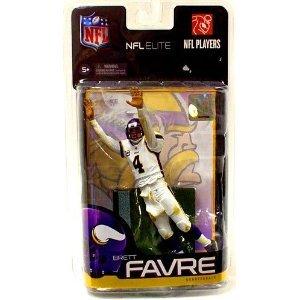McFarlane Toys NFL Sports Picks Exclusive NFL Elite Series 1 Action Figure Brett Favre White Uniform (Minnesota Vikings)