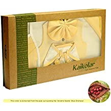 Kaikolar Natural Dyed Organic Cotton 6 Pcs Baby Gift Set-Natural White With Annatto Yellow