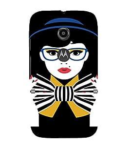 PrintVisa Tom Boy Nerdy Girl Art 3D Hard Polycarbonate Designer Back Case Cover for Motorola Moto E2