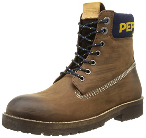 Pepe Jeans NEPAL RUGGED DISTRESS, Stivali uomo, Marrone (878brown), 41