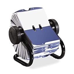 Wholesale CASE of 5 - Rolodex Rotary Business Card Files-Rotary Business Card File, 400 Card Cap, 200 Sleeves, Black