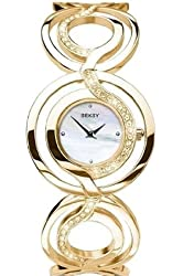 Seksy Wrist Wear by Sekonda Women's Quartz Watch with Mother of Pearl Dial Analogue Display and Gold Stainless Steel Bracelet 4850.37