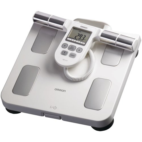 Image of OMRON HBF-510W FULL-BODY SENSOR BODY COMPOSITION MONITOR & SCALE (WHITE) (B00A9XIRGC)