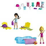 Acquista Polly Pocket W6307 - Bambola, Confezione 2 bambole con piscina e accessori