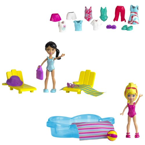 Polly Pocket - W6307 - Poupée et Mini-Poupée - Piscine