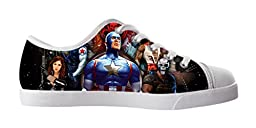 Renben Awesome Nonslip Captain America Kids Boy\'s Canvas Shoes Lace-up Low-top Sneakers Fashion Running Shoes