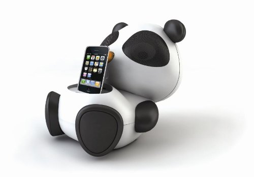 Impecca As601 Panda Character Shaped 6-Watt Ipod Docking Speaker (Black/White)