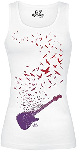 Full Volume by EMP Guitar Birds Longtop Top donna bianco S