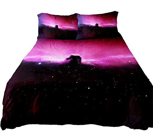 Anlye Bedroom Ideas Galaxy Bedding Set 3D Printing Galaxy Bedroom Sets Galaxy Bed Sheets King Size Bed With 2 Silk Pillowcase Queen front-1042610