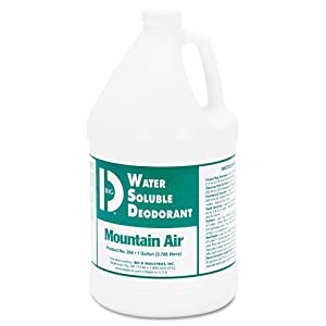 Water-Soluble Deodorant, Mountain Air, 1gal, 4/Carton, Sold as 1 Carton