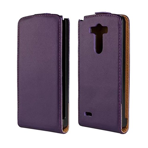 Nancy'S Shop Stylish Leather Case Cover For Lg G3, Up-Down Open Folio Design Luxury Leather Case Magnet Flip Cover ,Anti Shock Absorbing Bumper Case Cover Free Screen Protector For Lg G3 Optimus G3-Verizon For Lg G3 (Purple)