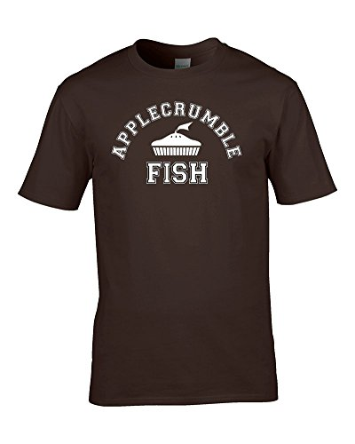 APPLECRUMBLE & FISH - designer fashion label parody, silly, funny men's T Shirt