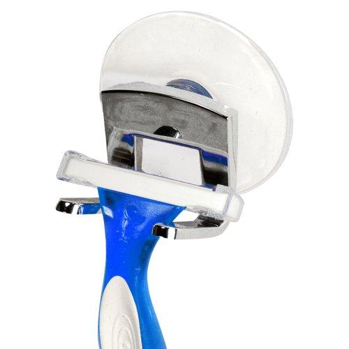 InterDesign Gia, Porte-rasoir à ventouse, Rangement de douche - Chrome