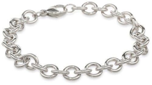 Sterling silver Ladies Solid Polished Link Bracelet, 7.5