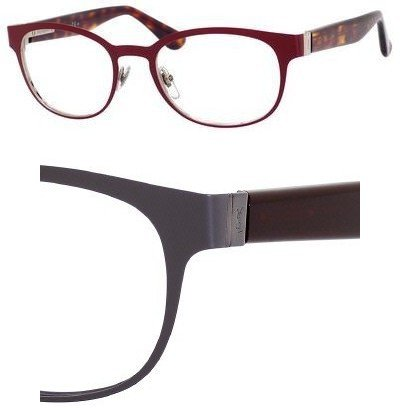 Yves Saint Laurent Yves Saint Laurent 2356 Eyeglasses-07H6 Green Ruthenium/Burgundy-52mm