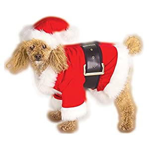 Velour Santa Claus Dog Pet Costume - Small by Rubies Christmas