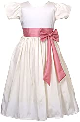 My Pink Closet Girls' 10-11 Years Frock (13A_10-11 Years_White)