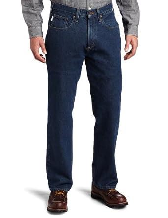 Carhartt Men's  Relaxed Fit Straight Leg Jean, Dark Vintage Blue, 30 x 30