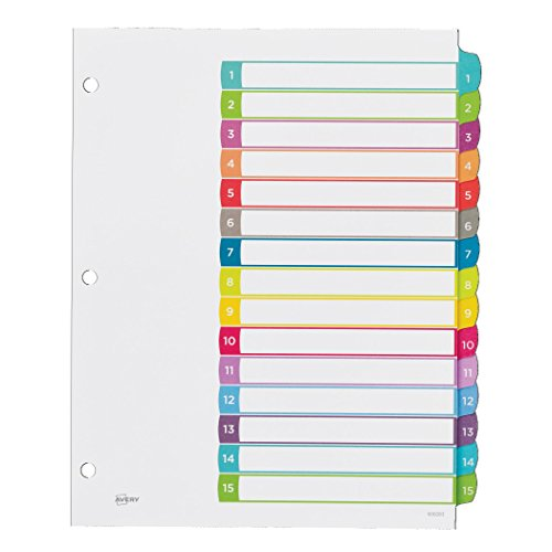 avery 15 tab dividers template for invoice