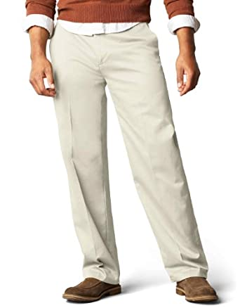 Dockers Men's Big-Tall Signature D3 Classic Fit Flat Front Pant,Cloud,34x38