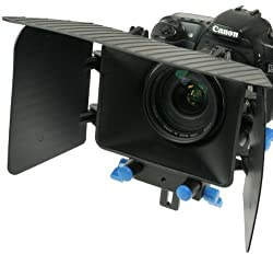 DSLR Matte Box for 15mm Rail Rod Support follow focus System D90 5D 60D 600D NEWMattBOX