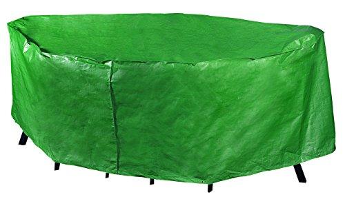 BOSMERE P330 - Telo protettivo reversibile per tavolo rettangolare, da 6 posti, colore: grigio/nero
