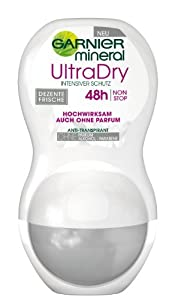 Garnier Mineral UltraDry Roll-On Deodorant (6 Packs of 50 ml)