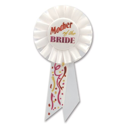 Beistle RS157 Mother of The Bride Rosette, 31/4 by 61/2-Inch