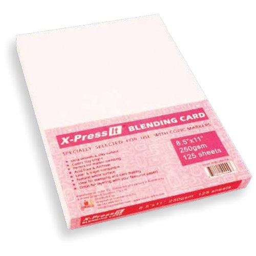 Copic Marker 8-1/2-Inch by 11-Inch Express Blending Card, White, 125 Per Pack