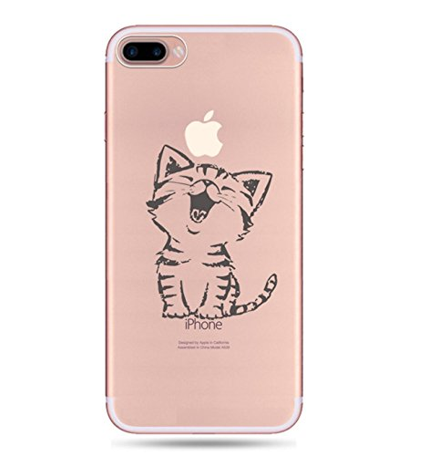 Incendemme Coque Housse / Etui Téléphone en Silicone Souple Cute Serie de Chat Transparent pour iPhone 6/6s/6 plus/ 6s plus (iPhone 6/6s, 16)