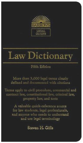 Law Dictionary (Barron's Legal Guides) - Harvard Book Store