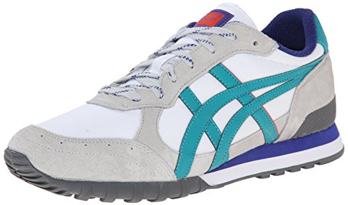 Onitsuka Tiger Colorado Eighty-Five Classic Running Shoe, White/Tropical Green, 5.5 M US