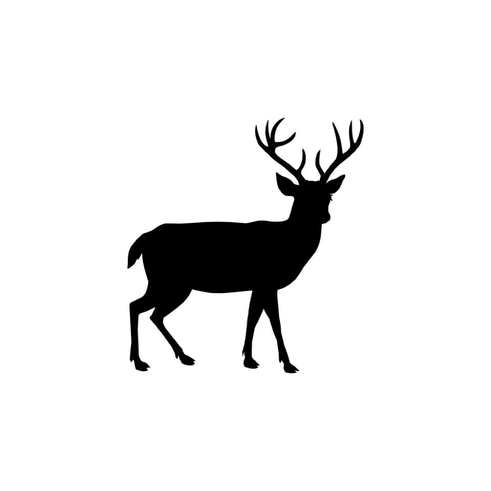 Deer Animal Picture Art   Kids Boys Bedroom   Home Decor Sticker   Vinyl Wall Decal   22 Colors Available