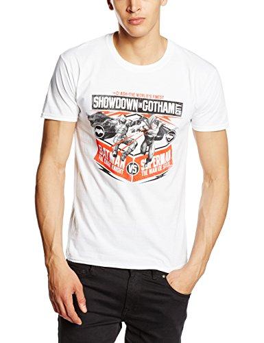 CID Batman V Superman-Showdown In Gotham, Camicia Uomo, Bianco (White), Large