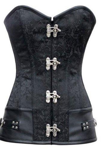 r-dessous sexy Vintage Corsage schwarze Korsett Steampunk Corsagentop Gothic Steampunk