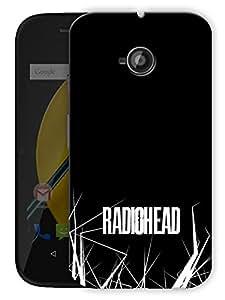 "Radiohead Music Printed Designer Mobile Back Cover For ""Motorola Moto E"" By Humor Gang (3D, Matte Finish, Premium Quality, Protective Snap On Slim Hard Phone Case, Multi Color)"