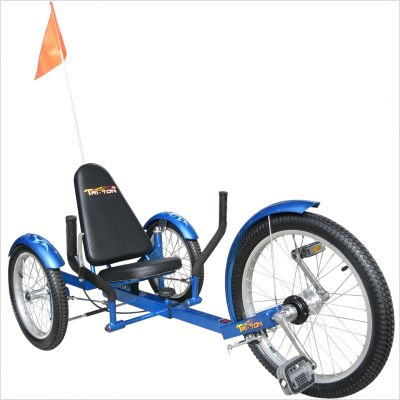 "Mobo Triton Pro (Blue) The Ultimate 3 wheeled Cruiser (20"")"