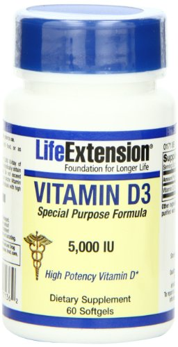 Life Extension Vitamin D3 (5,000IU, 60 Softgels)