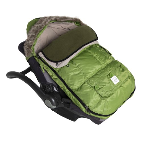 "7A.M. ENFANT ""Le Sac Igloo"" Footmuff, Converts into a Single Panel Stroller and Car Seat Cover - Kiwi, Small"