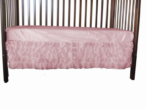 Baby Doll Layered Crib Dust Ruffle, Pink
