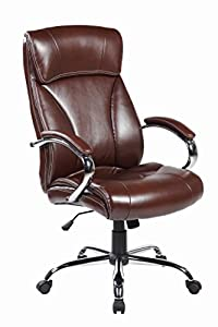 United Chair brown Ergonomic High back Leather Executive Office Desk Chair UOC-9005-2--BR