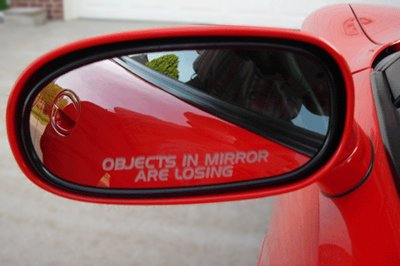 OBJECTS IN MIRROR ARE LOSING decal sticker Honda civic accord integra acura prelude crx jdm eg si vtec turbo dohc sohc import race drag (Honda Crx Jdm compare prices)