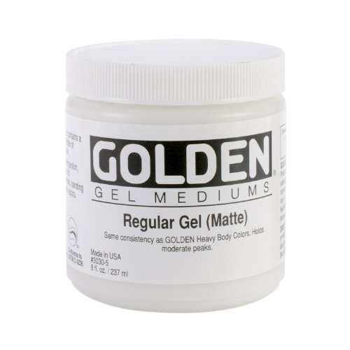 Golden Regular Gel Matte, 8-Ounce