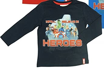 Avengers Long Sleeve T-shirt Navy 4 Years