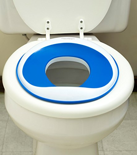 Potty Training | Non-Toxic (BPA- & Phthalate-Free) & Safety Certified | Non-Slip Surface | Best Travel & Portable Toddler Toilet Training Seat for Kids, Baby Boys & Girls | Blue (Disney Princesses Car Seat Covers compare prices)