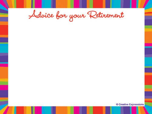 Retirement Stripes Advice Cards (6pks Case)