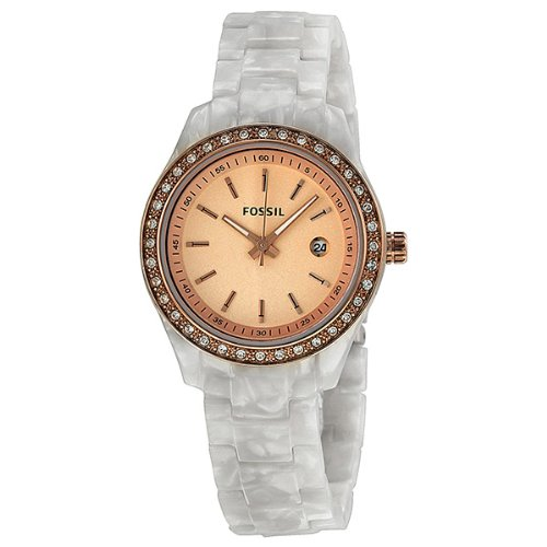 Fossil Women's ES2864 Stella Rose Gold Dial Watch