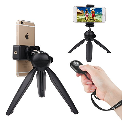 Universal Wireless Selfie Kit with Bluetooth Remote Control and Premium Tripod - Handsfree Control of Camera Shutter from a Distance of up to 30 feet - Suitable for iOS and Android Smartphones (Timer Tripod compare prices)