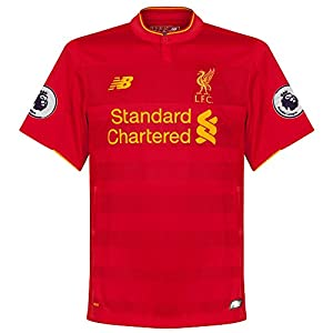 Liverpool Home Shirt incl Premier League Patches 2016 2017 - XL from New Balance