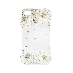 Designer Flower Decor Transparent Iphone4 Case